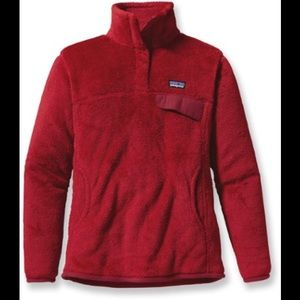 Patagonia red Re tool snap t fleece pullover